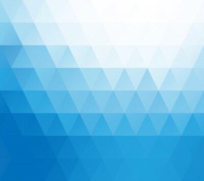 Fotomural Antecedentes del mosaico azul blanca, las plantillas del diseño creativo