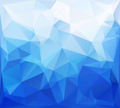 Fotomural Antecedentes poligonal mosaico azul, plantillas de diseño creativo