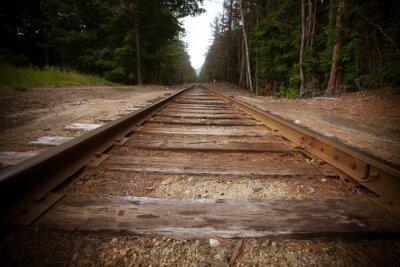Fotomural Antiguas vías de tren con efecto de textura vendimia
