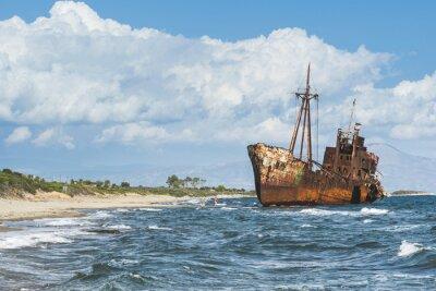 Fotomural Antiguo barco grande rústico