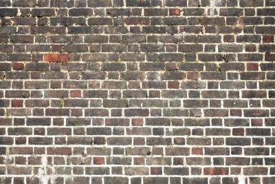 Fotomural Antiguo gran degradado fondo angustiado de pared de ladrillo rojo