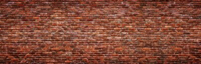 Fotomural Antique brick wall, panoramic view. Grunge stone texture.