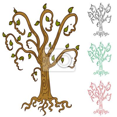 árbol Familiar Fotomural Fotomurales Herencia Parientes