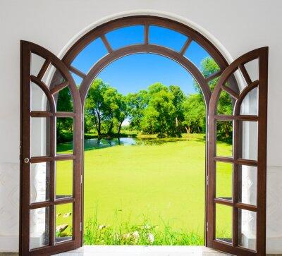 Fotomural Arch door open pond