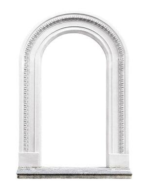 Fotomural arco de piedra aislado en el fondo blanco