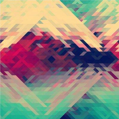 Fotomural Arco iris colores patrón de vector triangular