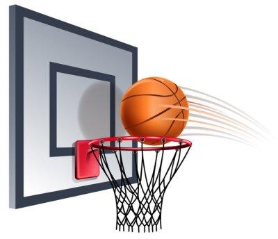 Fotomural aro de baloncesto