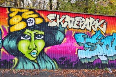 Fotomural Arte de la pared de ladrillo pintada en alemania