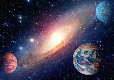 Fotomural Astrología astronomía tierra el espacio exterior el sistema solar mars planeta la vía láctea galaxia. Elementos de esta imagen proporcionados por la NASA.