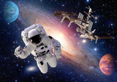 Fotomural Astronauta, astronauta, traje, gente, planeta, exterior, espacio, lanzadera, nave espacial. Elementos de esta imagen proporcionados por la NASA.