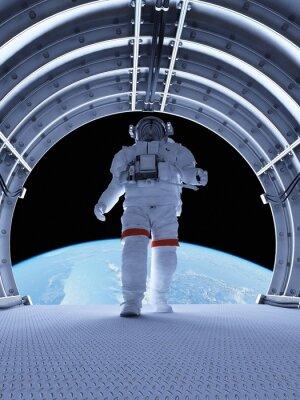 Fotomural Astronauta en los túneles