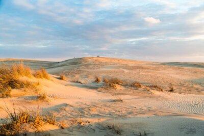 Fotomural Atardecer sobre las majestuosas dunas en el Jockey's Ridge State Park