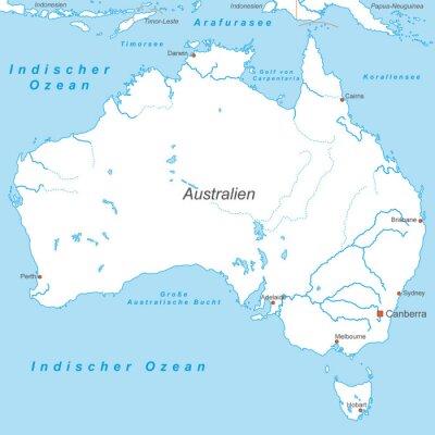 Fotomural Australia en Weiß (reservado) - Vektor