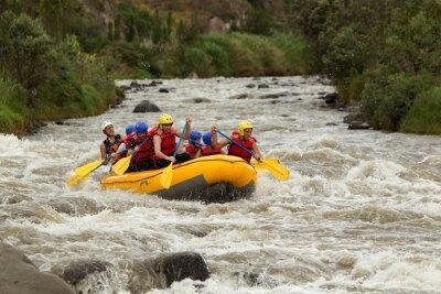 Fotomural Aventura en Rafting en el Río Whitewater