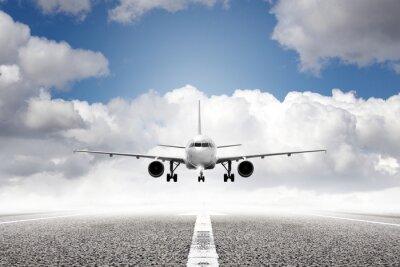 Fotomural avión de despegue en el aeropuerto