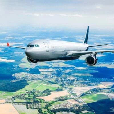 Fotomural Avión de Pasajeros en el cielo