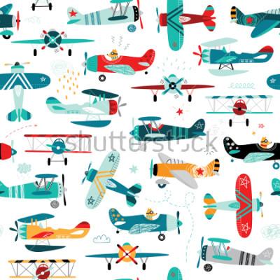Fotomural aviones niños sin patrón