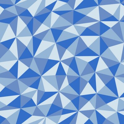 Fotomural Azul, arrugado, papel, geométrico, seamless, patrón