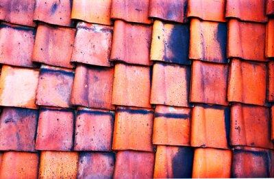 Fotomural Azulejo rojo viejo
