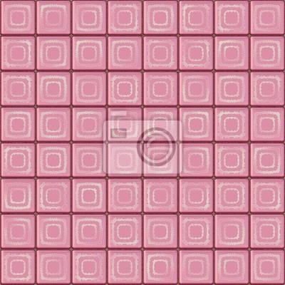 fotomural azulejos de color rosa inconstil de la textura con decoracin geomtrica - Azulejos Rosa