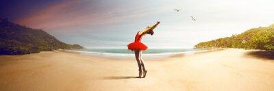 Fotomural Bailarín de ballet en la playa