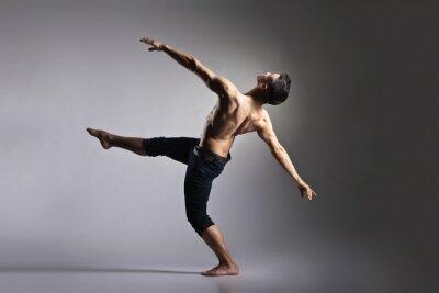 Fotomural Bailarín de ballet moderno joven y con estilo