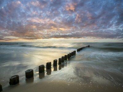 Fotomural Bałtycki zachód słońca