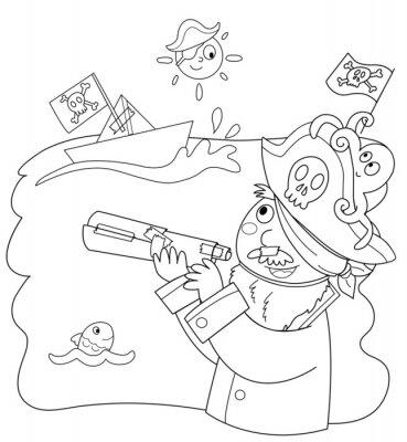 Fotomural Bambino vestito porque pirata