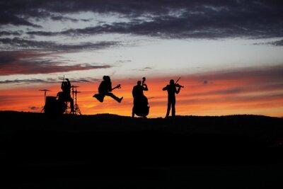 Fotomural Banda de actuación en vivo durante el concierto fuera