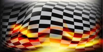Fotomural Bandera a cuadros de la raza. Banderas de carreras. Antecedentes bandera a cuadros Para