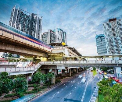 Fotomural Bangkok estación de metro al atardecer