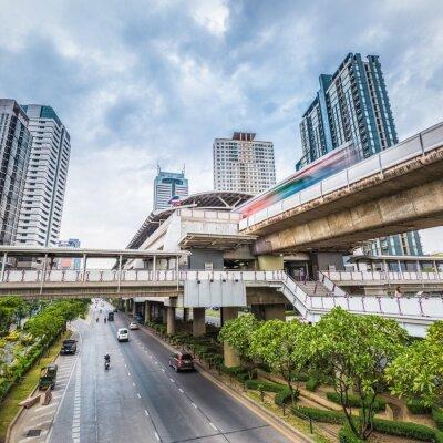 Fotomural Bangkok metro estación al atardecer