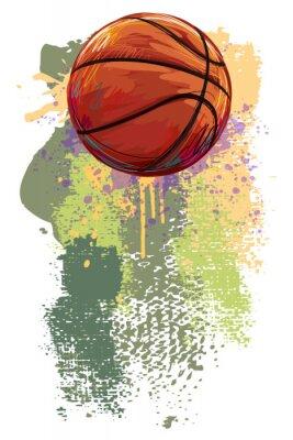 Fotomural Banner Baloncesto. Todos los elementos están en capas separadas y agrupados.