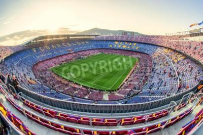 Fotomural BARCELONA, ESPAÑA - 19 de abril: Estadio de fútbol el 19 de abril de 2017 en Barcelona