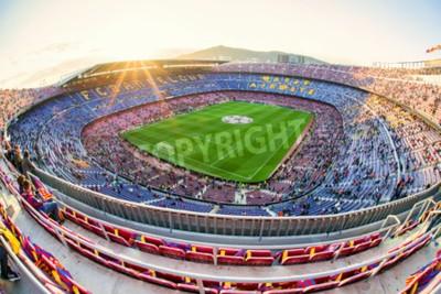 Fotomural BARCELONA, ESPAÑA - 19 de abril: Estadio de fútbol Nou Camp el 19 de abril de 2017 en Barcelona