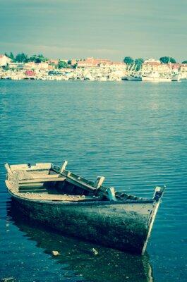Fotomural Barco abandonado de madera