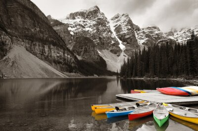 Fotomural Barco del lago Moraine