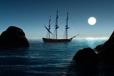 Fotomural Barco pirata