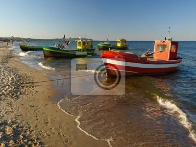 Fotomural Barcos de pesca en Sopot