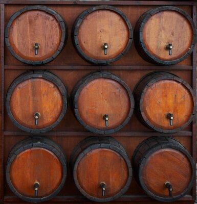 Fotomural barriles de vino de pie