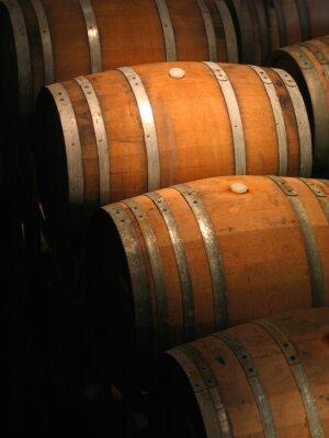 Fotomural Barriles de vino en bodega