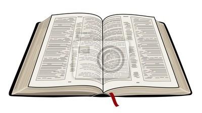 Biblia Abierta Fotomural Fotomurales Mandamiento Diez Testamento