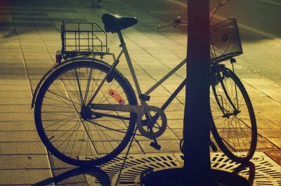 Fotomural Bicicleta retro en la calle
