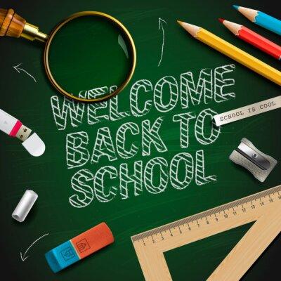Fotomural Bienvenido de nuevo a la escuela, vector Eps10 ilustración.