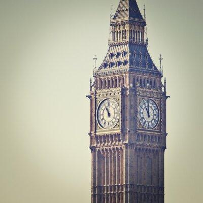 Fotomural Big Ben en Westminster, Londres, con filtro de efecto Instagram