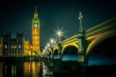 Fotomural Big Ben y las Casas del Parlamento al atardecer, Londres, Reino Unido