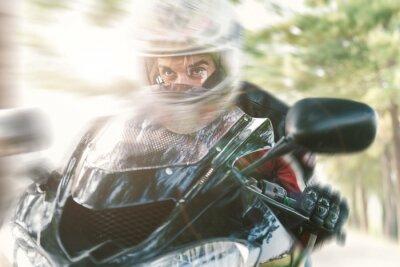 Fotomural Biker en la carretera a caballo rápido