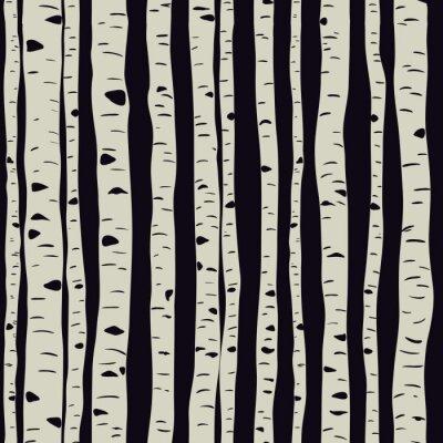 Fotomural Birches in vector