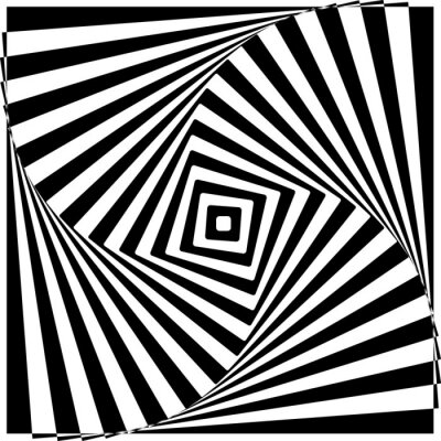 Fotomural Black and White Optical Illusion Vector Illustration.