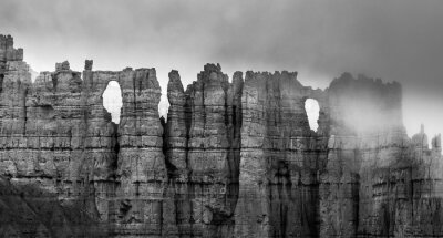 Fotomural Blanco y Negro Bryce Canyon